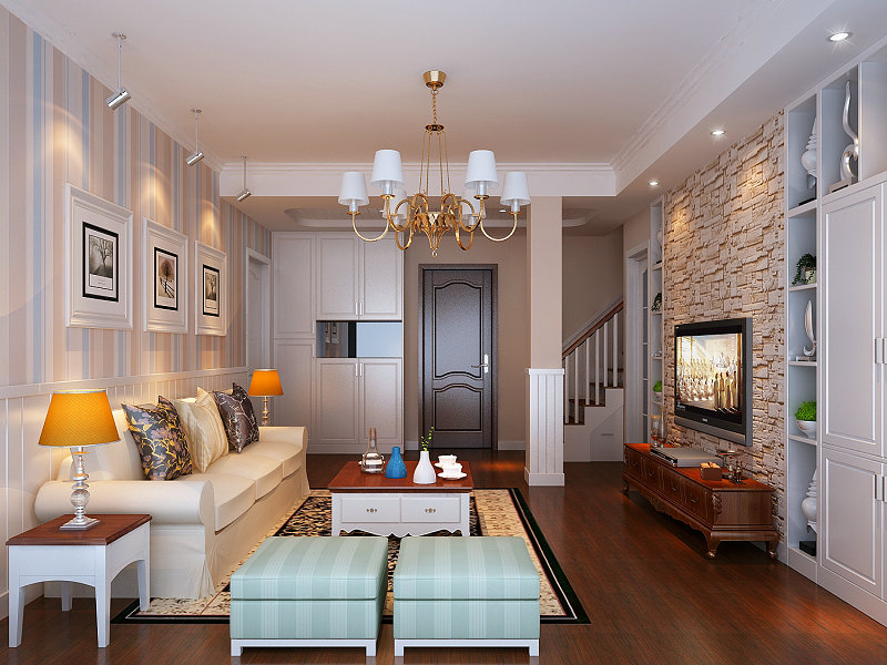 地板和墙纸也搭配简约的设计图片