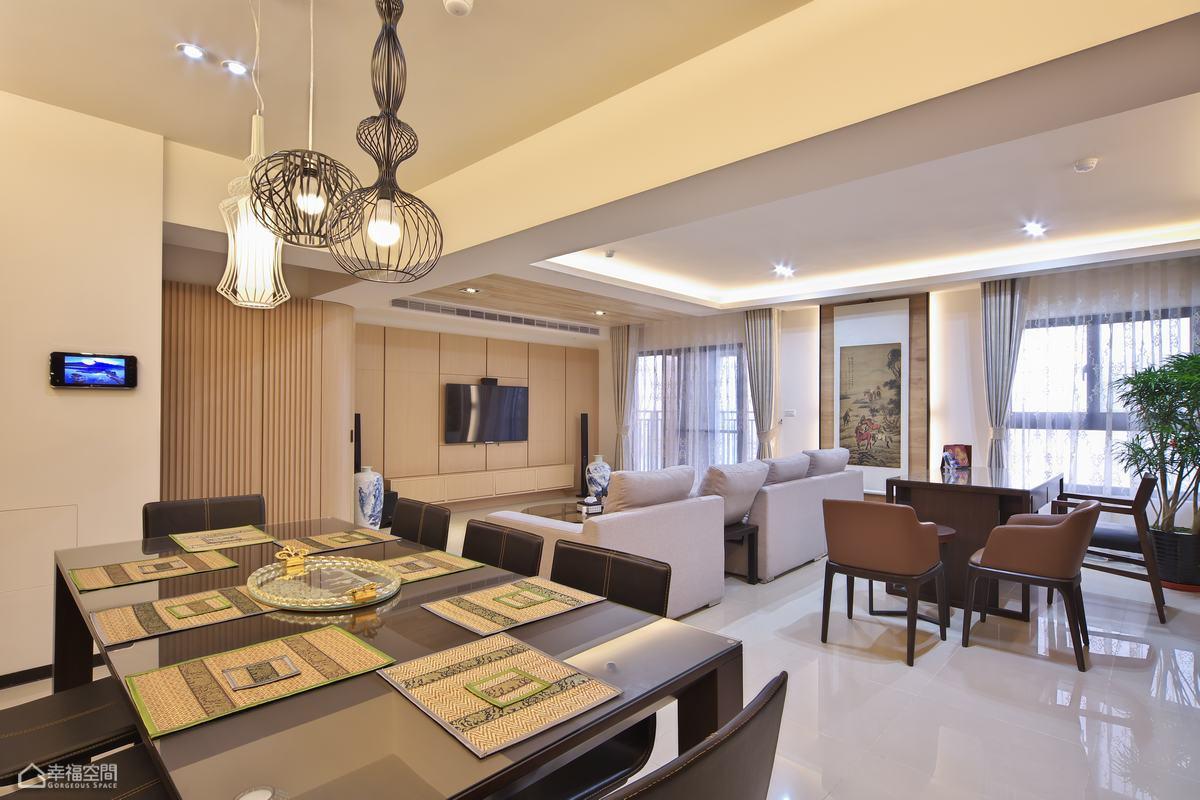 简约风格公寓温馨餐桌效果图