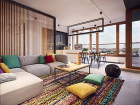 温暖活泼的色彩 波兰简约质感公寓