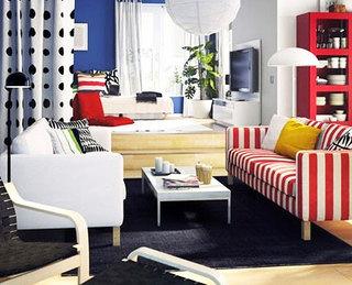 宜家风格暖色调客厅宜家沙发图片