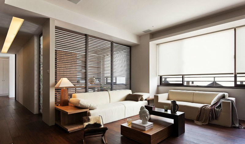 中式风格简洁客厅效果图