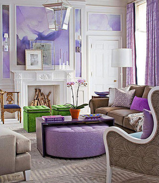 紫色控最爱 5款紫色浪漫客厅欣赏