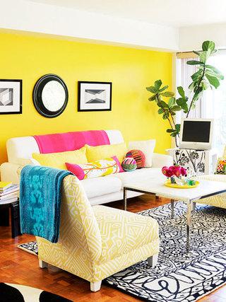 欧式风格黄色欧式客厅设计