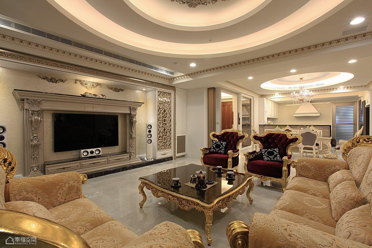 欧式风格古典豪华型客厅装修