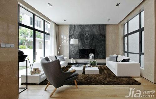 三层别墅设计图  现代简约装修风格 样板间