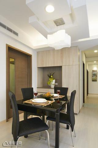 简约风格公寓白色餐厅装修效果图