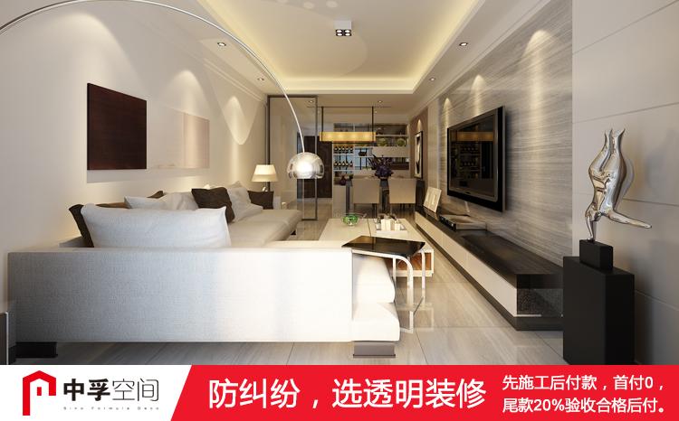 歐式簡約風格 二房 透明裝修 總造價:11.80萬
