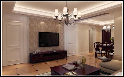 5-10万70平米美式小户型装修效果图,简美的两居室半包