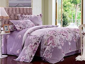 淡紫床单三件套  浪漫满屋