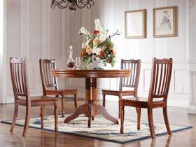 经典圆形餐桌椅家具
