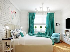 温馨简洁明快的现代美式温馨卧房家具