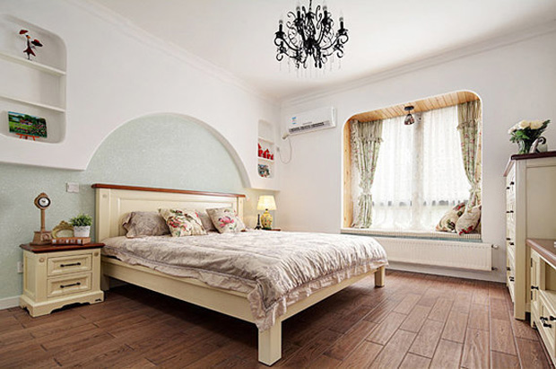 混搭风格小清新130平米卧室装修