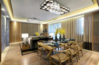 中式风格温馨140平米以上餐厅装潢