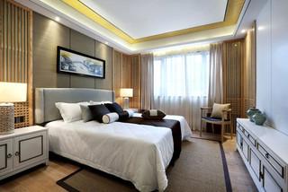 中式风格温馨140平米以上卧室装修效果图