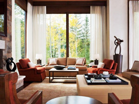 帶著陽光回家 18款客廳落地窗設計