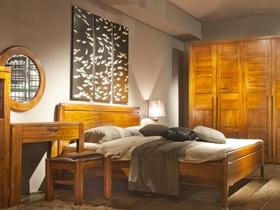 中式簡約臥室也能刷大牌 你家HOLD住么