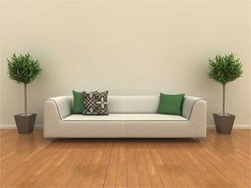 简约的素色打造舒适客厅