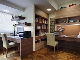 6款温馨书房的实木书桌