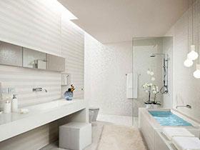 22黑白卫生间 单色调也可以很美