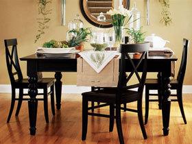 美式餐桌椅 餐厅也有厚实感