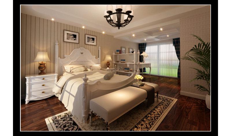 康乾半岛的简美别墅装修效果图,室内设计效果图 齐家装修网高清图片