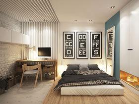 12图书房塞进卧室 区域划分有妙招