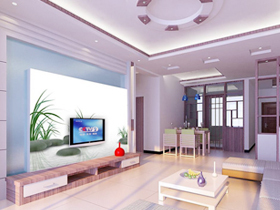 无限的创造力 客厅电视背景墙效果图