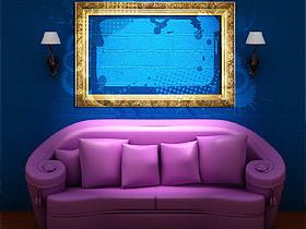 紫色的神秘烘托出客厅异样魅力