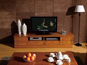 实木组合电视柜效果图