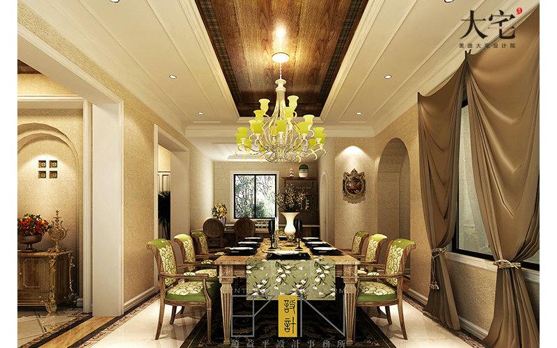 豪华型装修140平米以上田园别墅装修效果图,西班牙田园装修案例效高清图片