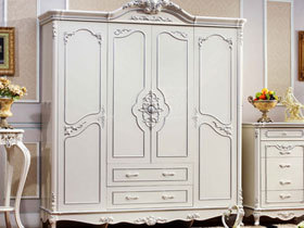 白色简约衣柜设计图