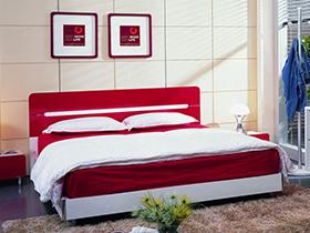 喜庆红色时尚软床