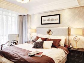 卧室背景墙装修效果 墙面上演温馨风