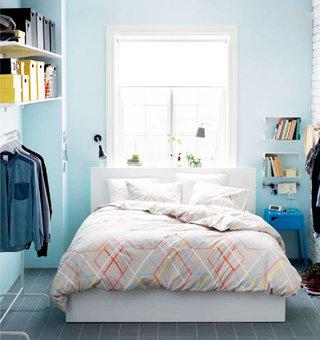 简约风格小清新蓝色卧室设计