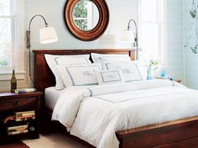 乡村复古美式卧室实景图欣赏