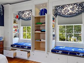 把柜子融入飘窗 18种特色飘窗欣赏