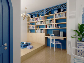 舒适度倍增 15个地中海书房榻榻米