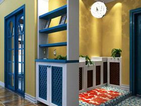 演绎蓝色的温柔 17个地中海鞋柜