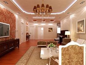 23款客廳吊頂設計  感受奢華美式風