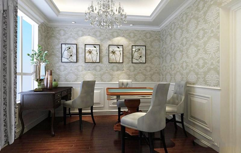 欧式风格奢华书房装修效果图