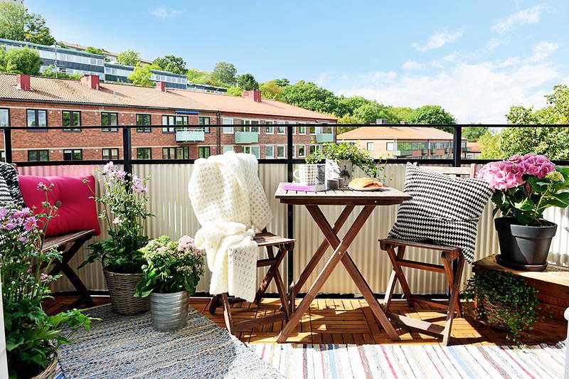 北欧风格简洁阳台设计