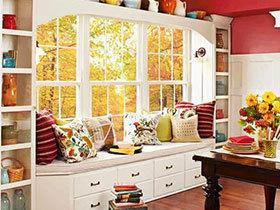飘窗与收纳二合一 17款白色宜家风飘窗欣赏