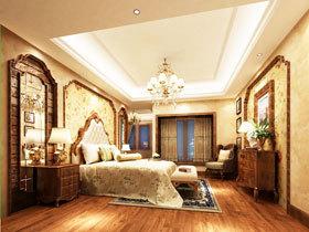 24图美式卧室吊顶 顶上风景同样精彩