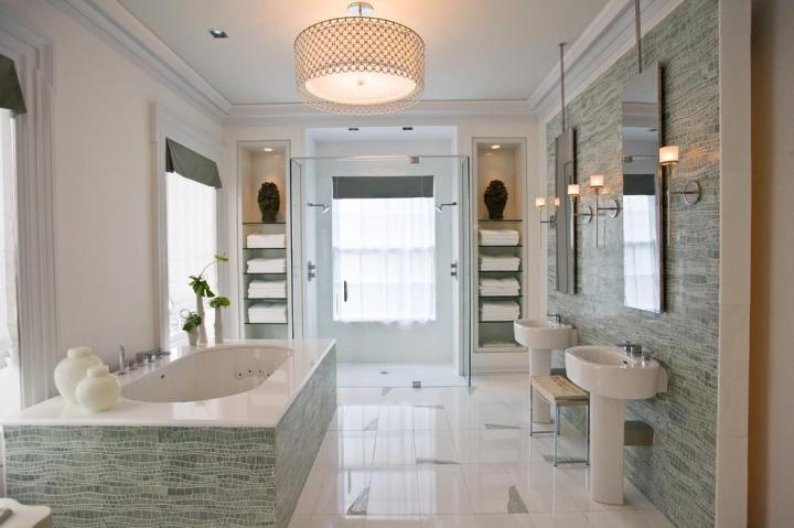 宜家风格温馨卫生间灯具效果图