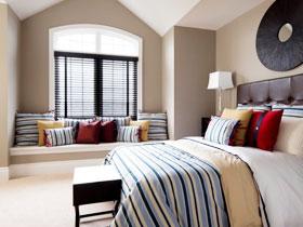 地中海臥室飄窗裝修效果圖 坐享度假風