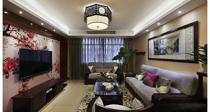 5 10万130平米中式三居室装修效果图,三代同堂 130㎡3室2厅中式大高清图片