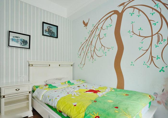 墙角手绘墙设计图