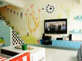 突显时尚品味 16款手绘墙设计图