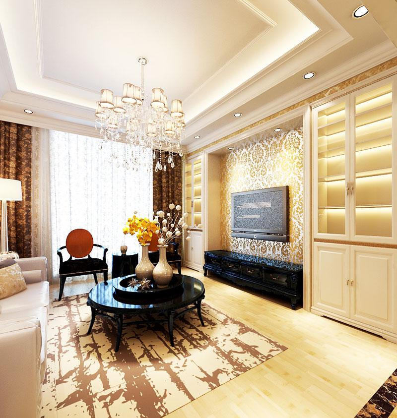 欧式风格客厅客厅灯效果图