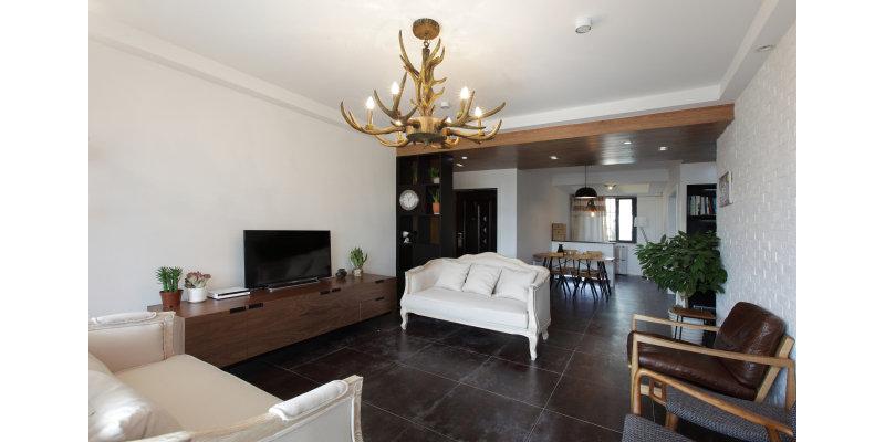 10-15万130平米简约三居室装修效果图,3房大气北欧风
